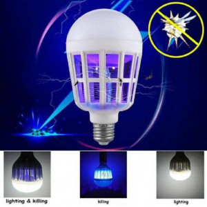 LED Electric Trap Light Indoor 15w E27 LED Mosquito Killer Lamp Bulb Electronic Anti Insect Bug Wasp Pest Fly Outdoor Greenhouse