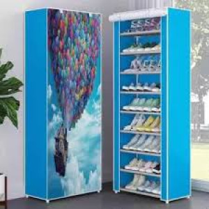 Shoe Rack Storage Cabinet Cover Pockets