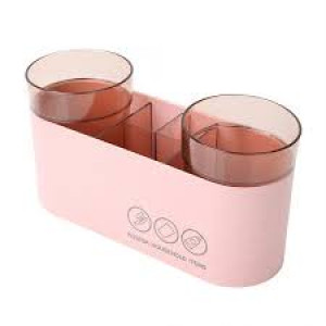 Cup Holder Toothbrush Toothpaste Storage Rack Organizer With Home Bathroom Accessories Single Cups