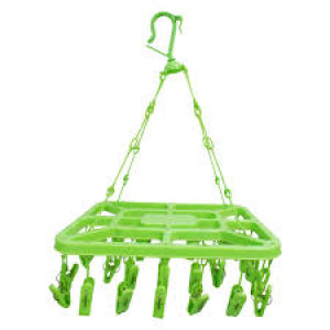 Rectangular Plastic Cloth Drying Hanger Stand