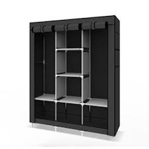 Duble Wardrobe Closet Storage Organizer Clothes Rack